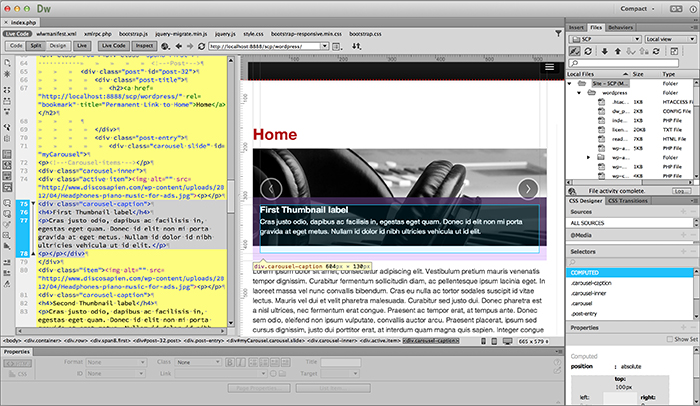 Building WordPress Sites with Adobe Dreamweaver CC | Create