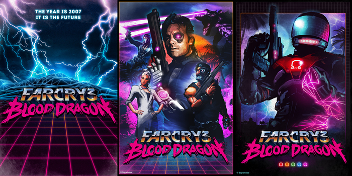 Box art for Ubisoft games: Far Cry 3: Blood Dragon, by designer James White