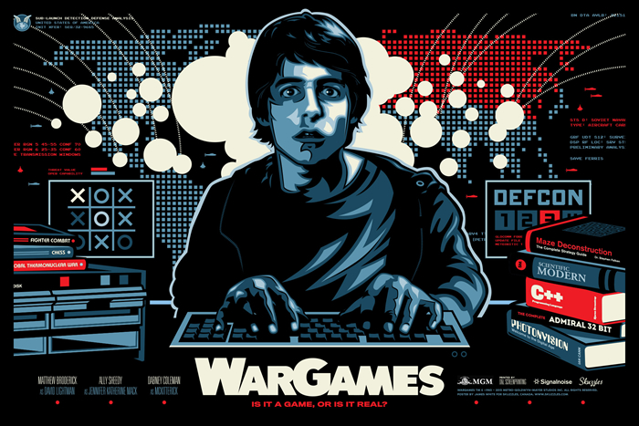 Movie poster for WarGames by designer James White