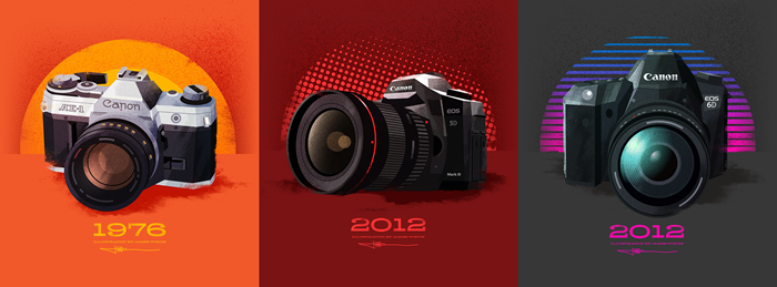 Posters for Canon Canada's 40th birthday by designer James White