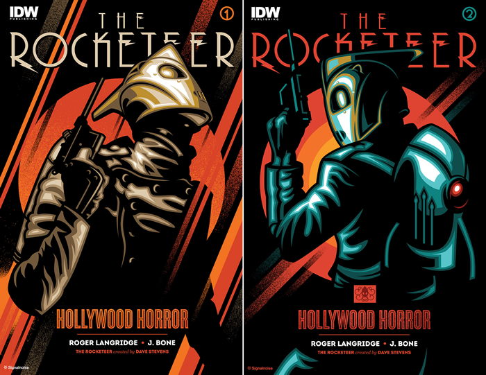 Illustrations of the Rocketeer by designer James White