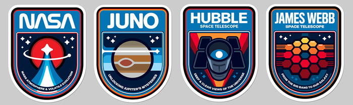 NASA patches designed by graphic designer James White