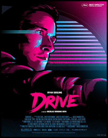 Movie poster for the movie Drive, by designer James White