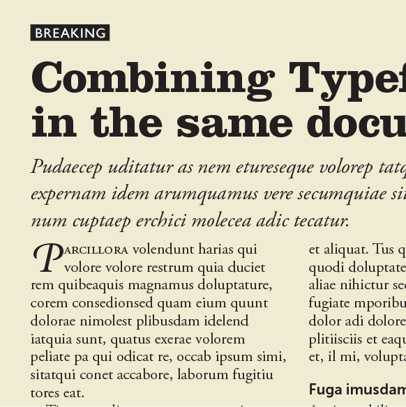 Eight Tips for Combining Typefaces | Create
