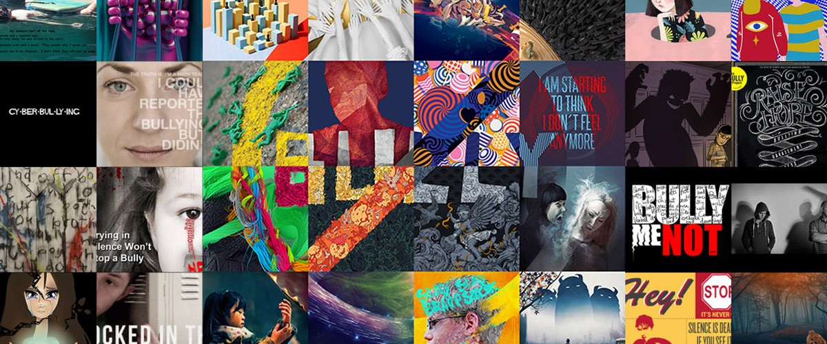 A detail from the Bully Project Mural, a digital mosaic conceived by Adobe and filmmaker Lee Hirsch, and contributed to by artists from around the globe.