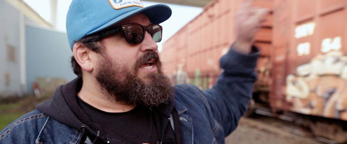 photograph of Aaron Draplin