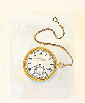 illustration of a watch by Maira Kalman