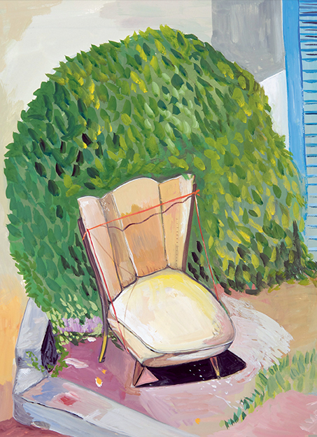 illustration of a lawn chair by Maira Kalman