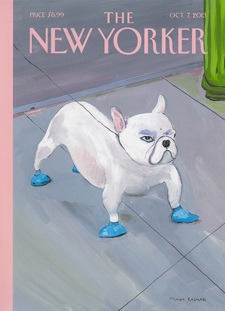 bulldog illustration cover of New Yorker by Maira Kalman