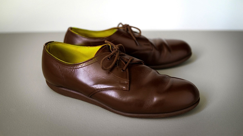 a photo of Maira Kalman's Buddha shoes