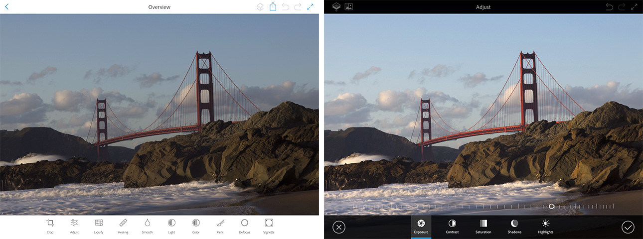 These four before and after examples of Photoshop Fix demonstrate the power of the app.