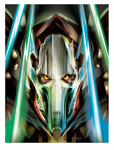 Illustration of General Grievous, by Orlando Arocena.
