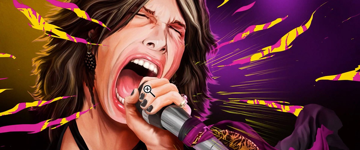 This portrait of Steven Tyler was created in Photoshop.