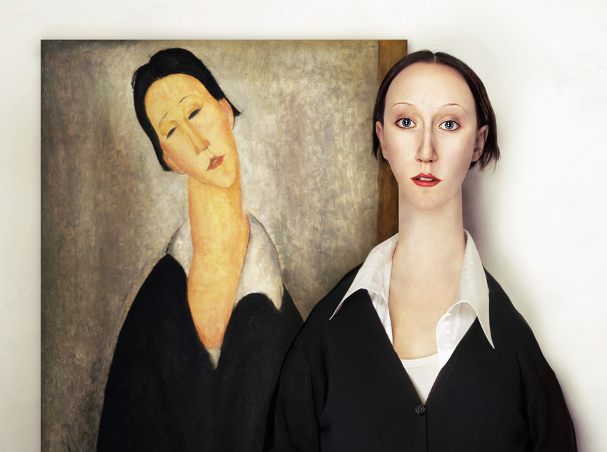 An image by artist Flora Borsi, inspired by Modigliani