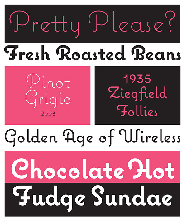 Coquette font by Mark Simonson