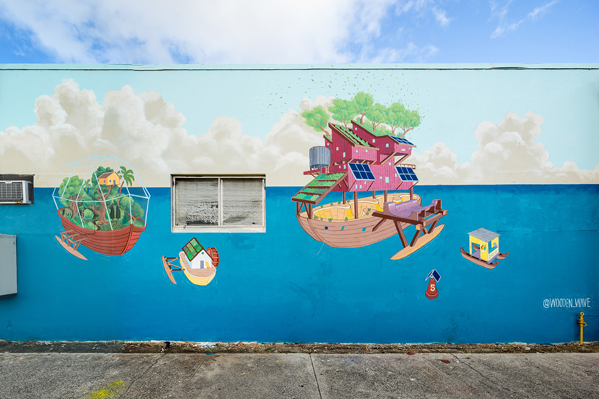 Mural from Pow Wow Hawaii, by Wooden Wave