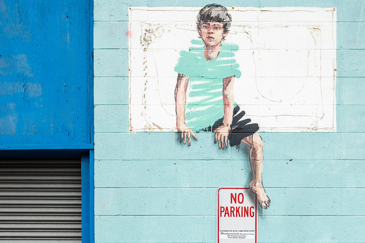 Mural from Pow Wow Hawaii, by Ernest Zacharevic