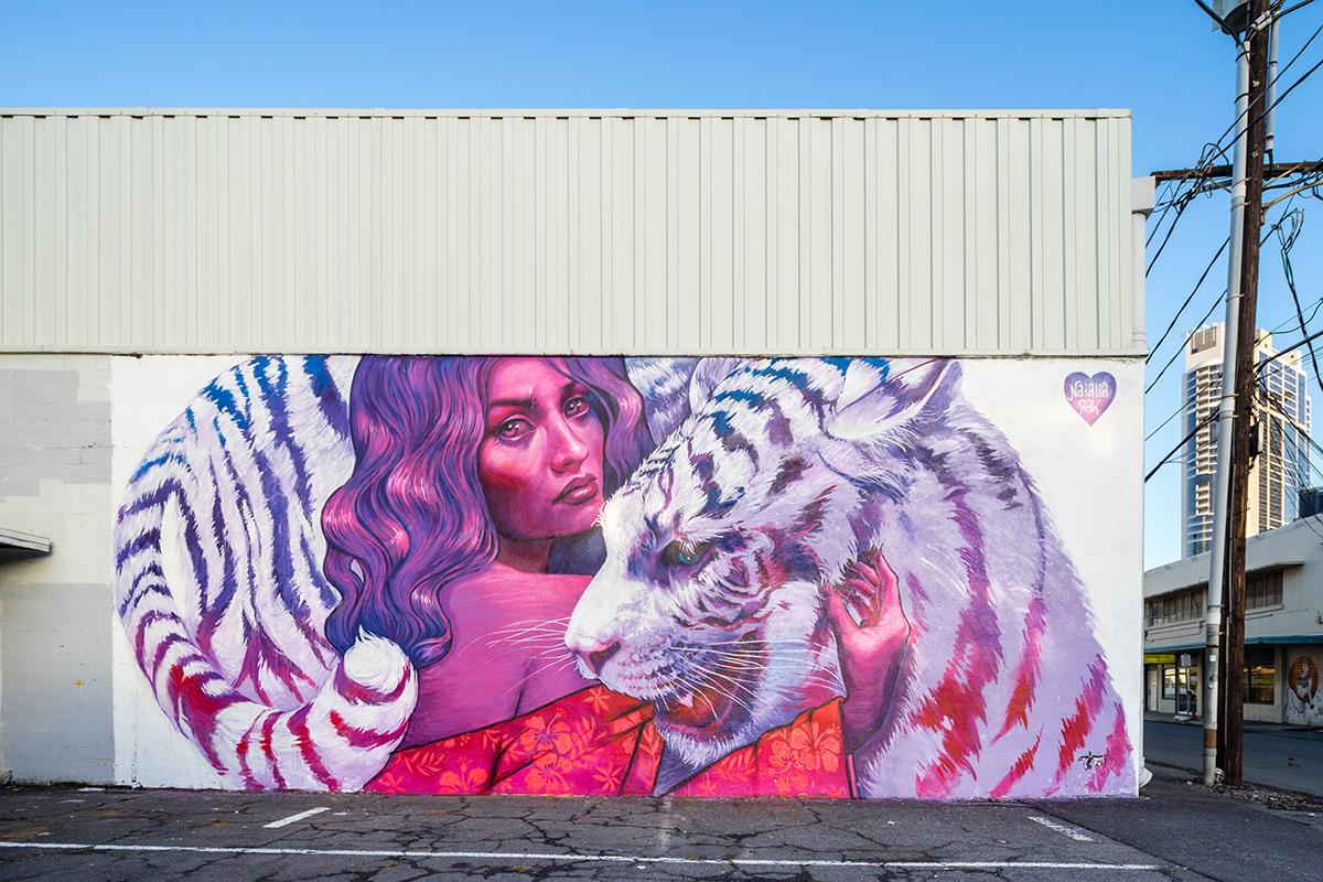 Mural from Pow Wow Hawaii, by Natalia Rak