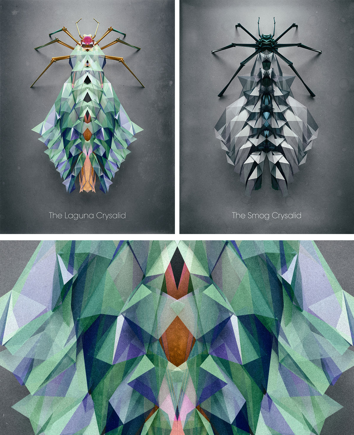 Images of extraterrestrial insects, from the project Biotop from Polygonia, by Chaotic Atmospheres