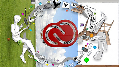 Conceptual sketch of the 2015 Creative Cloud identity