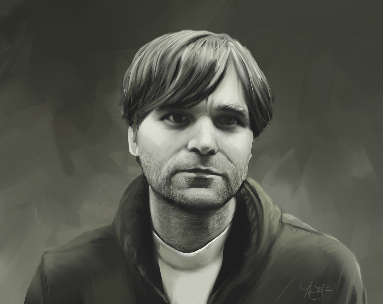 A portrait of Ben Gibbard