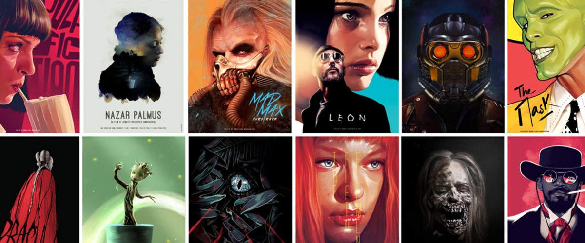Flore Maquin designed and illustrated these fan-art movie posters for herself.