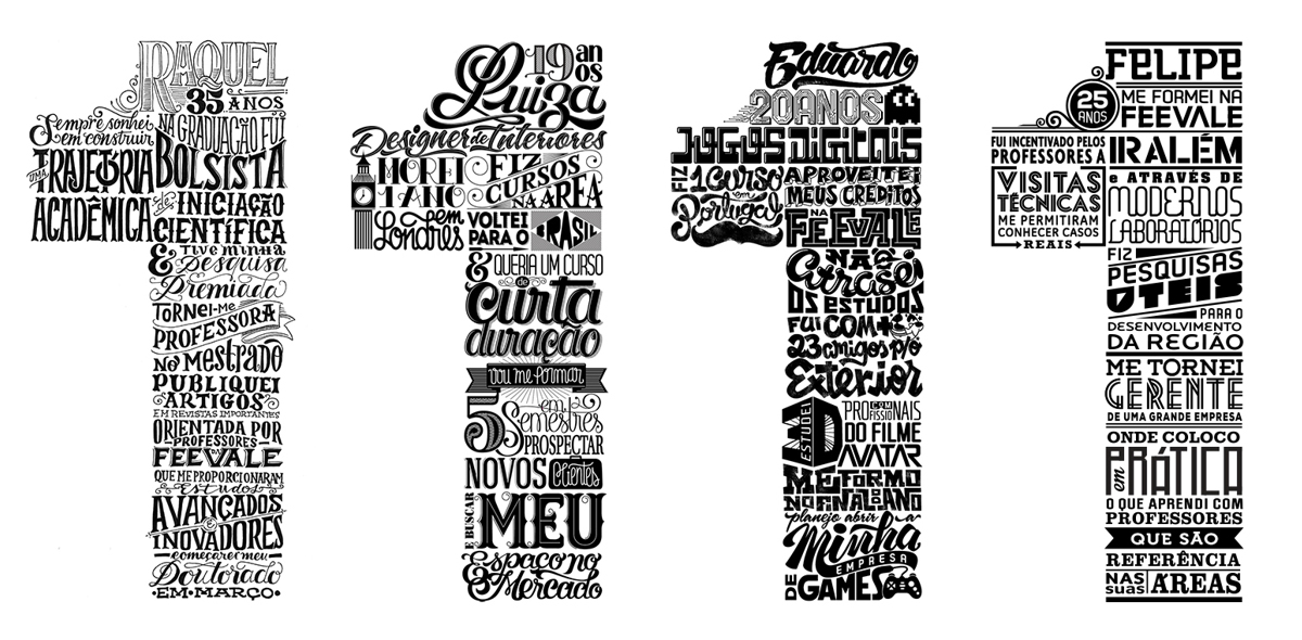 Lettering project by Leandro Senna