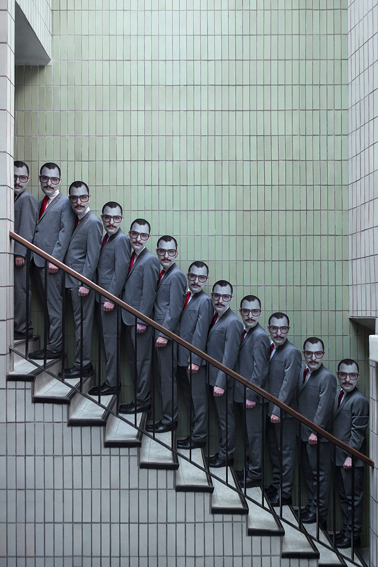 photo of men on a staircase, by Eveyln Bencicova