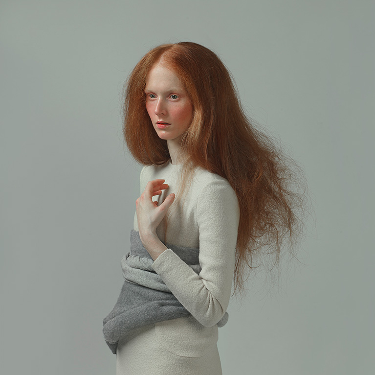 photo of a red-haired girl, by Evelyn Bencicova