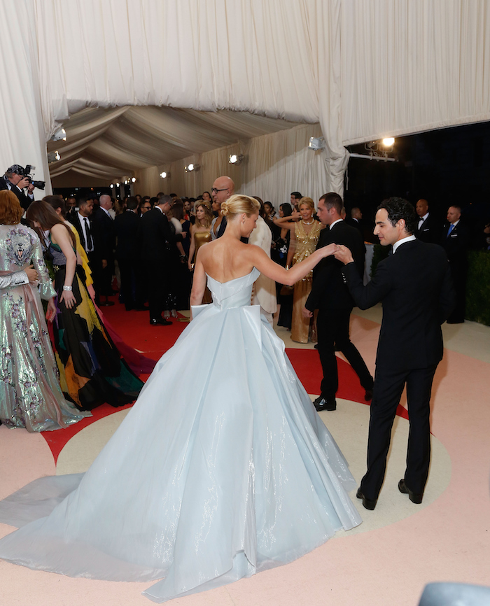 Image of Claire Danes and Zac Posen at Met Gala 2016