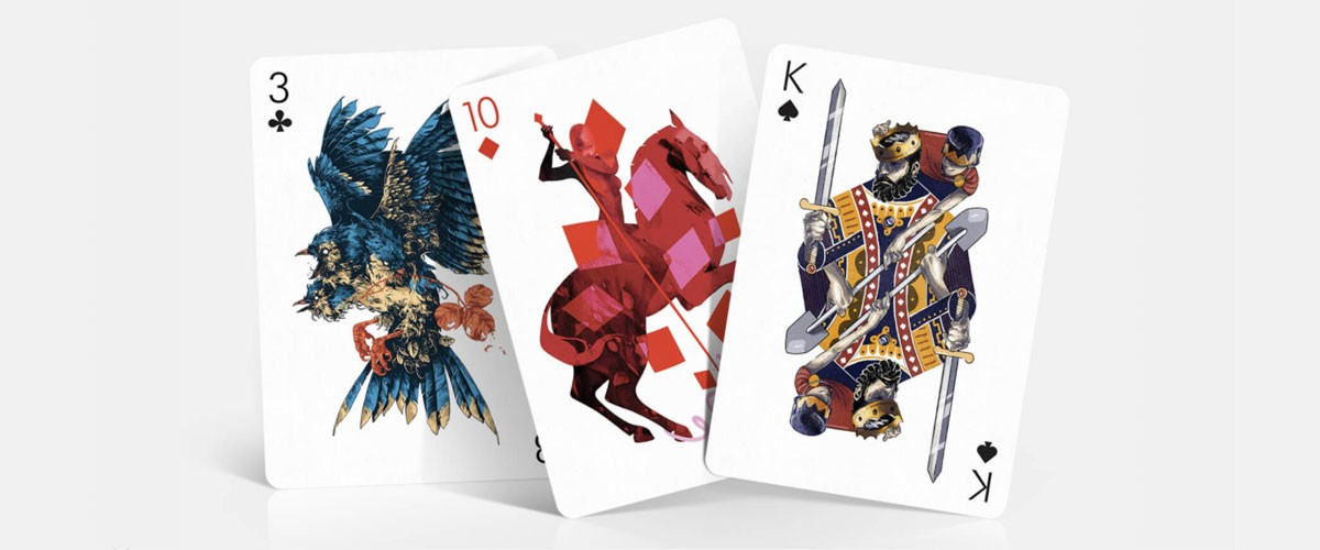 card deck graphic designers playing adobe arts create special edition magazine