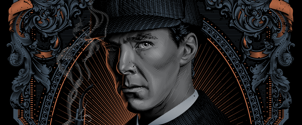 Illustration of Benedict Cumberbatch as Sherlock, by Tracie Ching