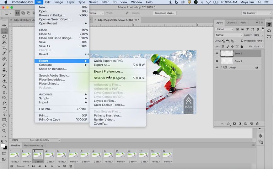 This video shows you how to animate an ad in Adobe Photoshop CC.