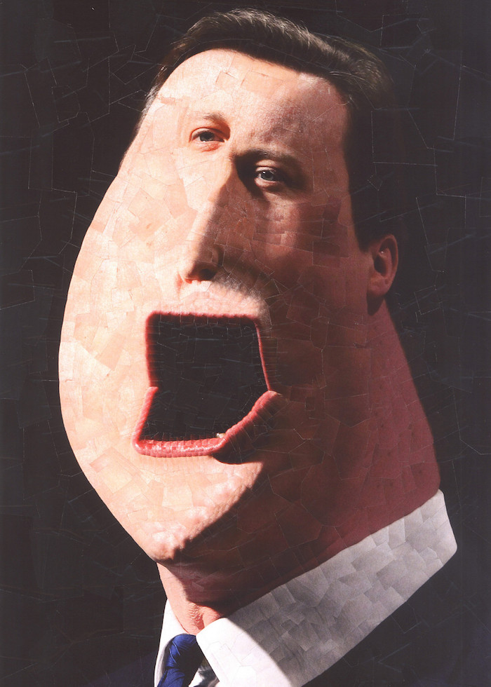 collage image of David Cameron, by Lola Dupre