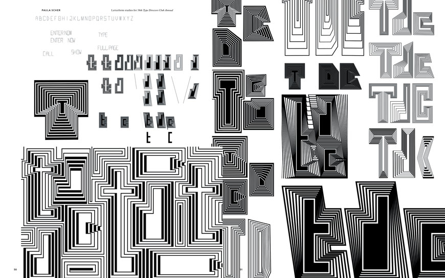 A new book and exhibition, both called Please Make This Look Nice, serve as master design teachers for anyone willing to learn. These lettering studies are by Paula Scher