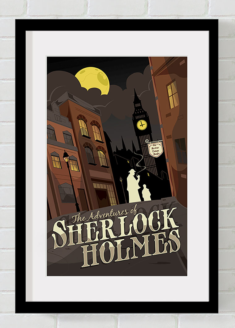 Print of the cover art for The Adventures of Sherlock Holmes