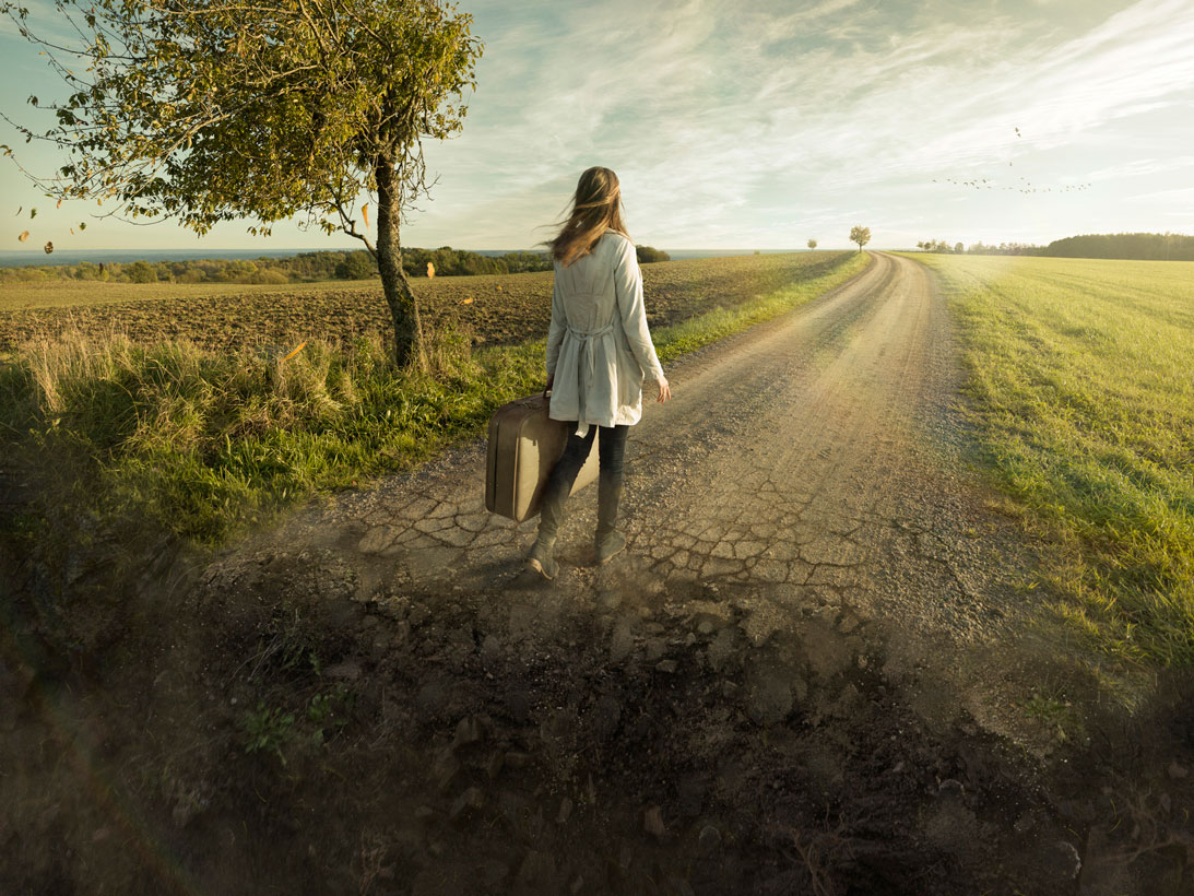 This image, Don't Look Back, was created by Erik Johansson.
