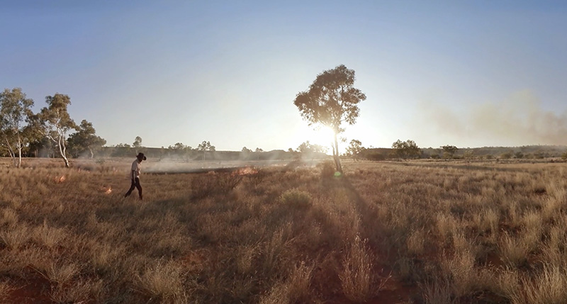 The scale of the vast Western Australian plains helped to emphasize the sense of alienation at the heart of Collisions.