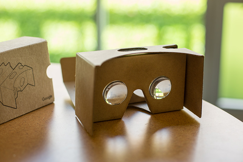 Google Cardboard, used with your phone, is a cheap way to experience 360 and VR video.