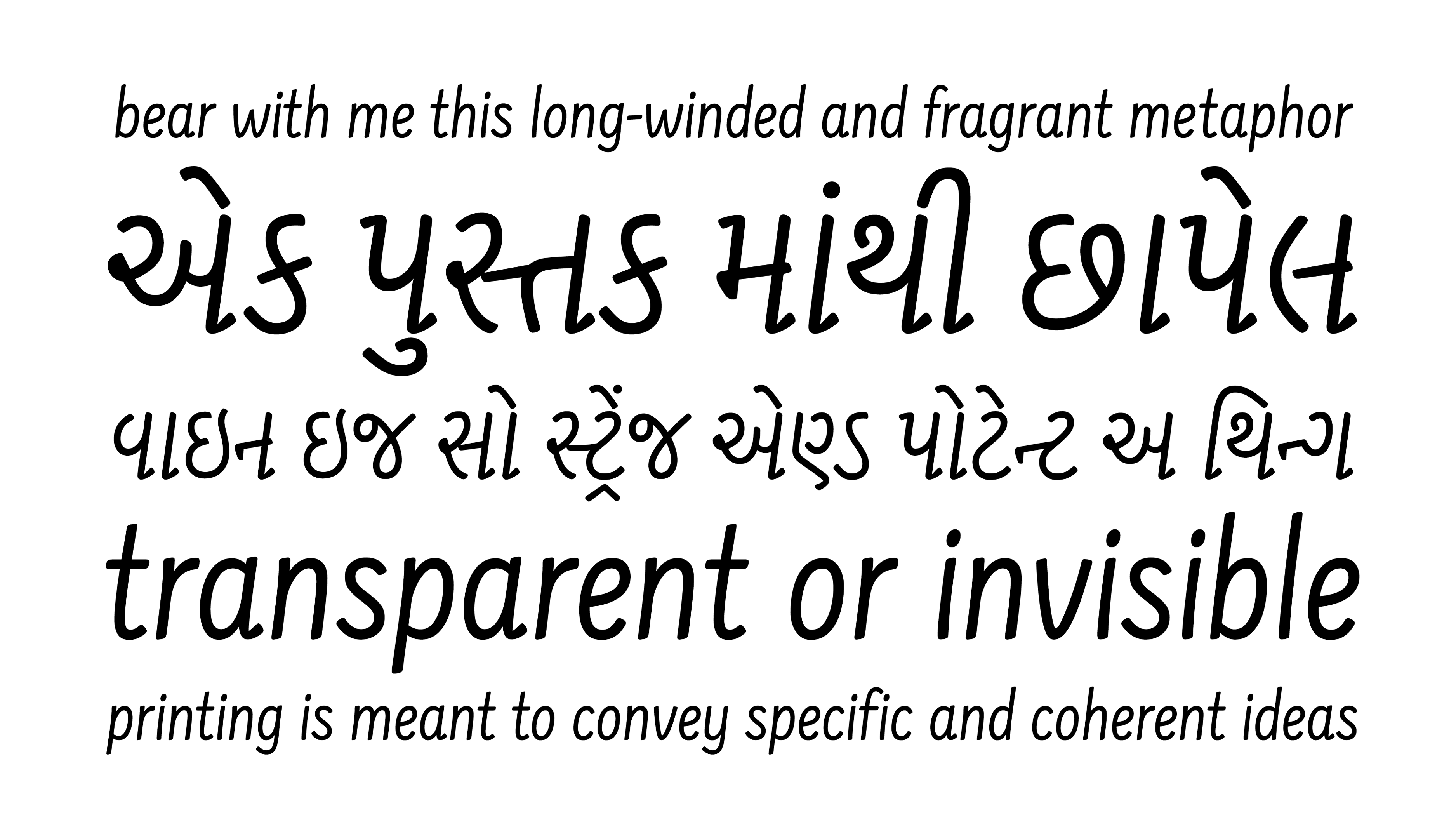 Farsan Above One Of Her Multi Script Typefaces Has A Welcoming Feel With Many Potential Applications This Monoline Sans Serif Narrow Body
