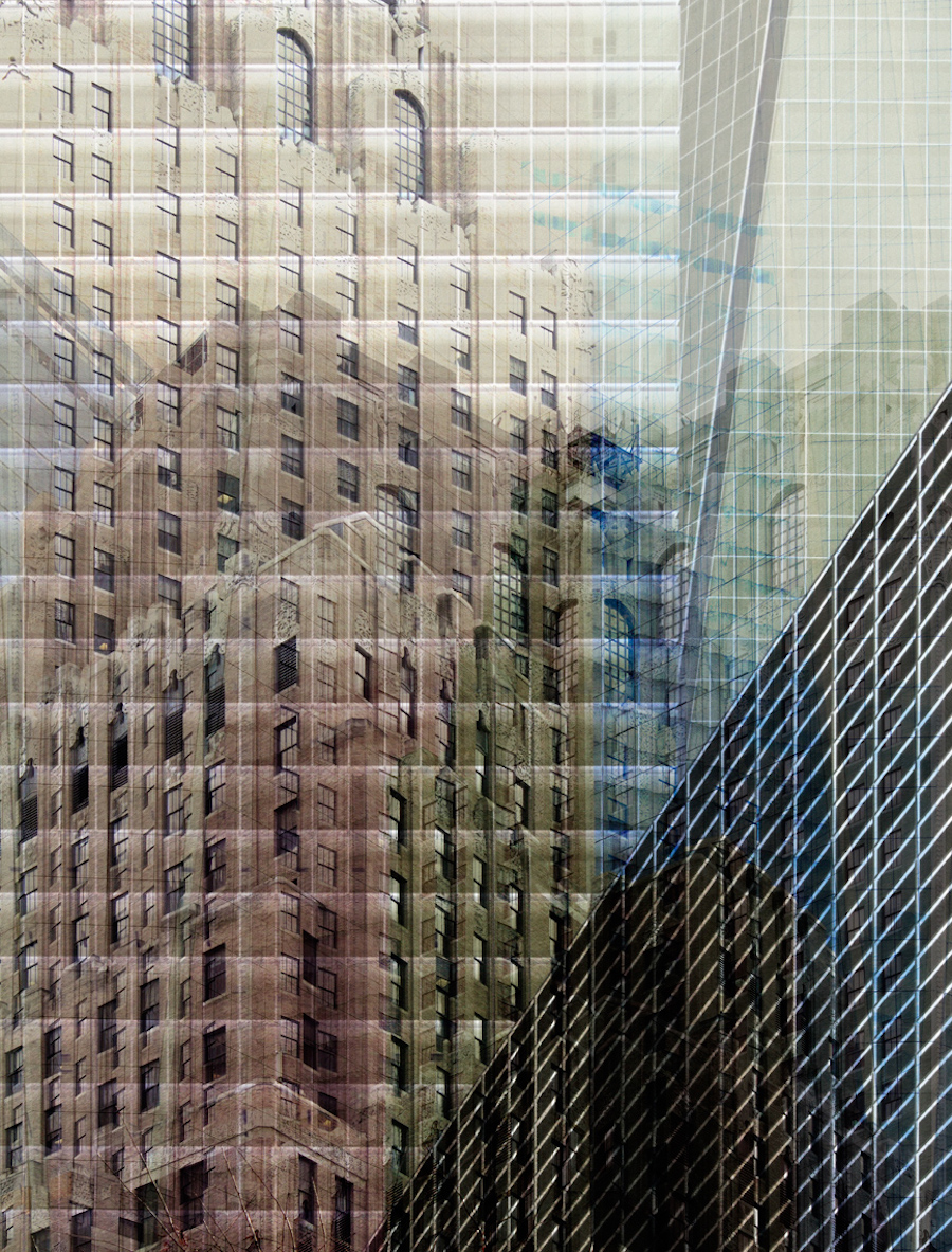 photo-image of New York City building form Carsten Witte's Deconstruction series