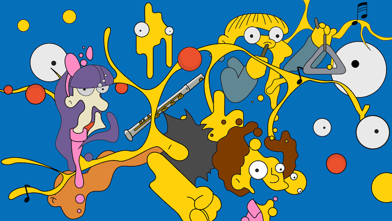 simpsons collage by LAUNDRY