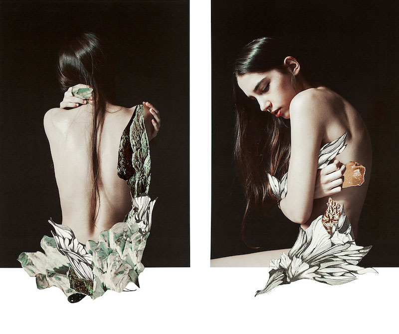 collage image of two women by Rocio Montoya