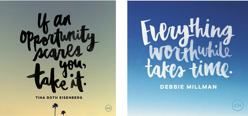 Christine Herrin An Adobe Creative Resident Honed Her Hand Lettering Skills With Practice