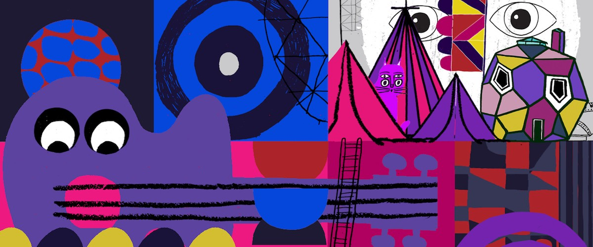 illustration by Stephen Smith, a.k.a. Neasden Control Centre, for Glastonbury Music Festival