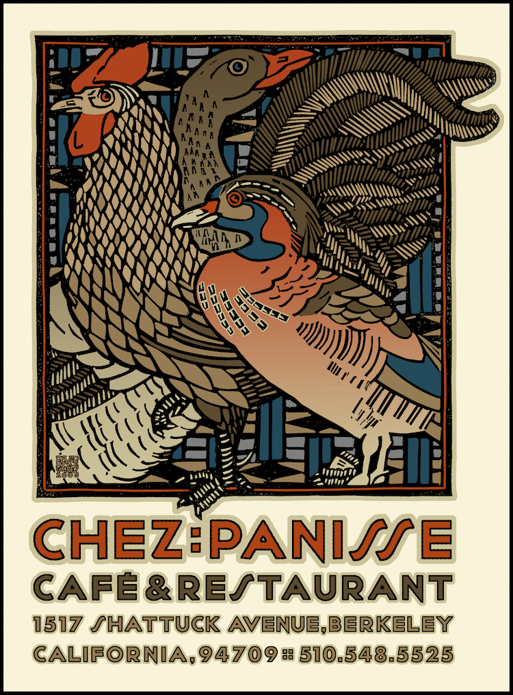 Chez Panisse poster by  David Lance Goines