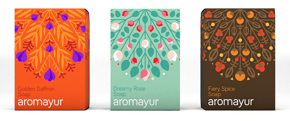 aromayur soap packaging