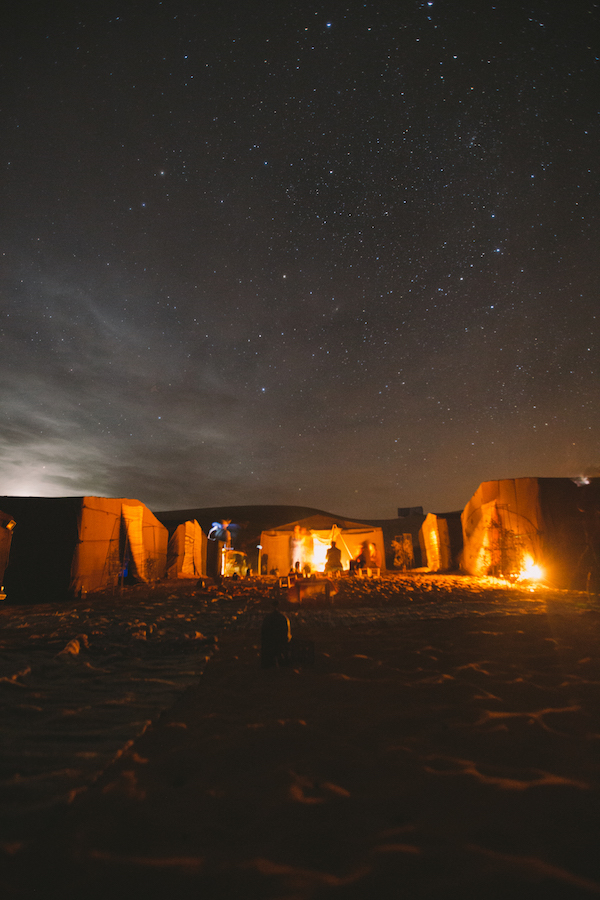 photos of a campsite at night, by Julia Nimke