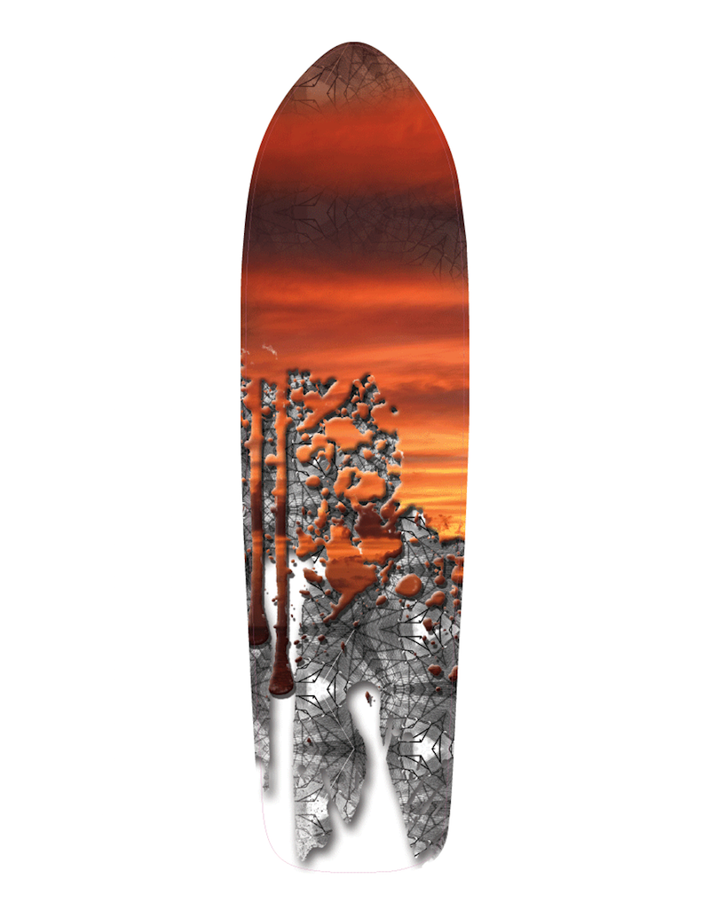 orange longboard design by Chelsea Burton