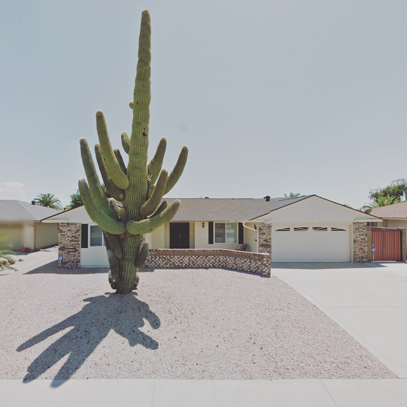 a photo of a phouse in Sun City, Arizona, from the Agoraphobic Traveller